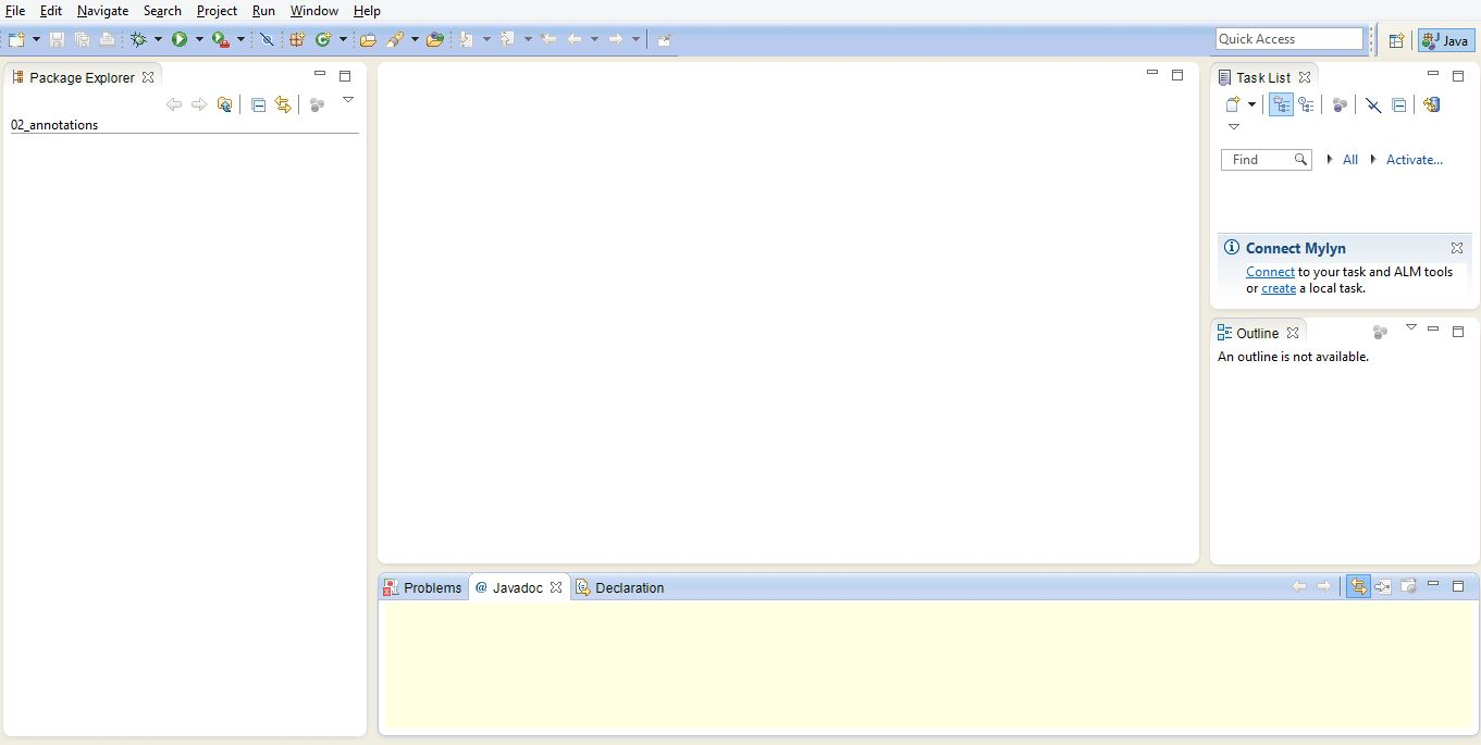 Java tutorial for beginners using eclipse images any tutorial eclipse beginners tutorial java beginners tutorial this is the screen from where you can start creating baditri Choice Image
