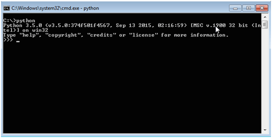 Python installation in Windows command prompt