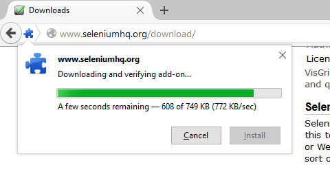 Downloading Selenium IDE
