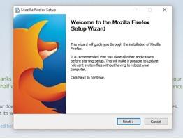 Firefox Setup Wizard 1