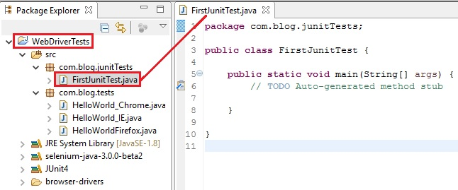 9g  WebDriver - Running WebDriver tests in JUnit4 - Java