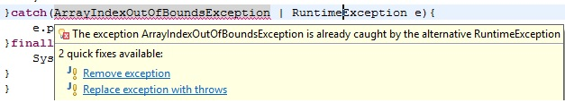 multiple exceptions