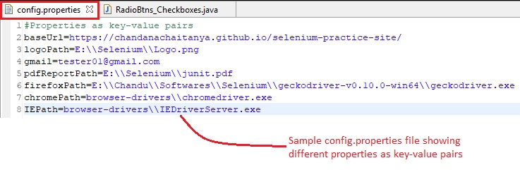 how to get key value from properties file in java