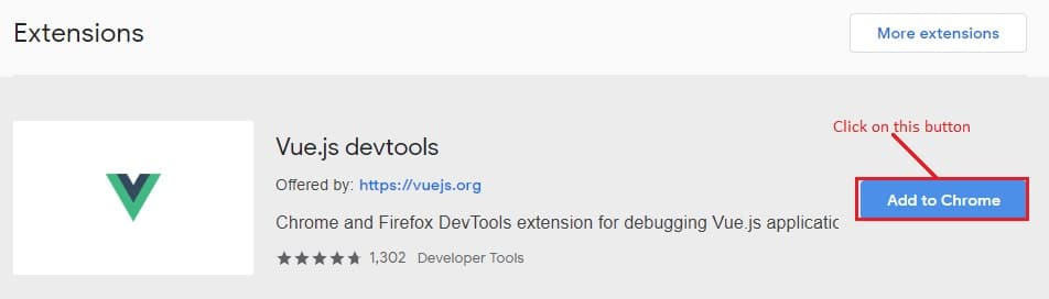 Vue Devtools extension