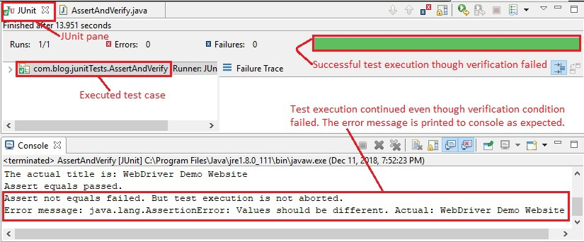 Verify condition fails