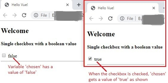 single checkbox