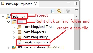 Log4j.properties file creation